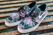 shoes,floral nike skate board shoes