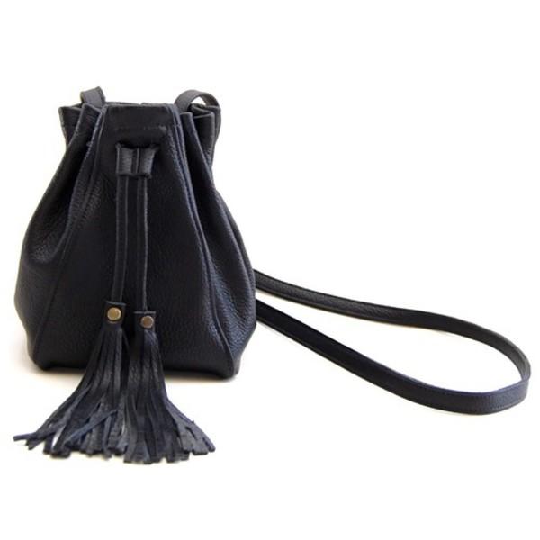 bag pebbled leather bucket bag fringed bag fringes mini bag