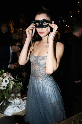 dress bella hadid model dior see through see through dress underwear fashion week 2017 fashion week
