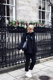 into the fold,blogger,coat,pants,socks,sweater,bag,jewels