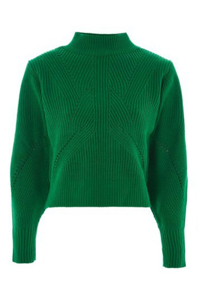 Topshop jumper back green sweater