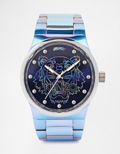 jewels,a man's iridescent watch,mens accessories,kenzo,holographic,watch,designer,our favorite accessories 2015