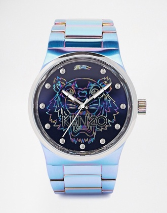 jewels a man's iridescent watch mens accessories kenzo holographic watch designer our favorite accessories 2015