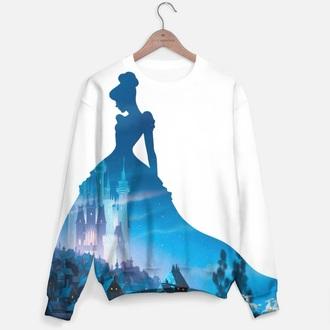 shirt disney cinderella disney princess princess cute sweater top white shirt comics