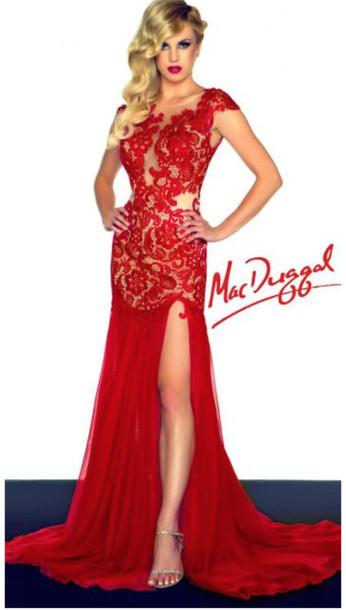 Dress Formal Dress Formal Party Dress Lace Dress Red Dress