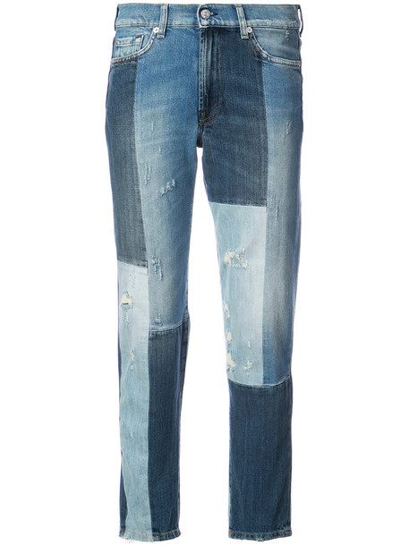 7 For All Mankind - Dylan jeans - women - Cotton/Spandex/Elastane - 28, Blue, Cotton/Spandex/Elastane