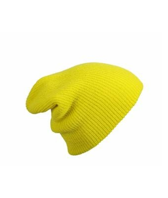 MB Oversized Baggy Fit Slouch Style Beanie Beany Cap - 6 New Colours (Yellow): Amazon.co.uk: Clothing