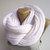 unisex white infinity scarf - women men scarf neckwarmer - cowl - knitted scarf - knit scarf - wool acrylic senoAccessory