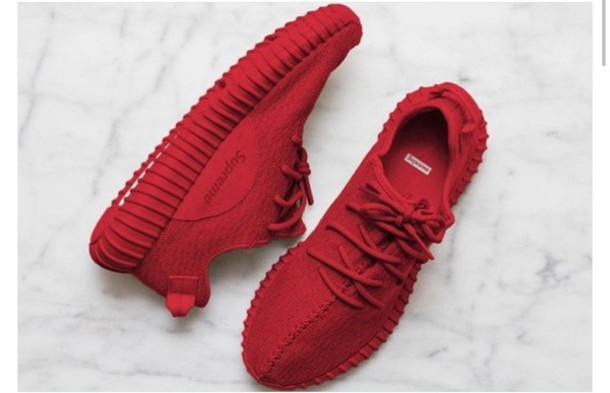 Shoes Red Yeezy Supreme Sneakers Adidas