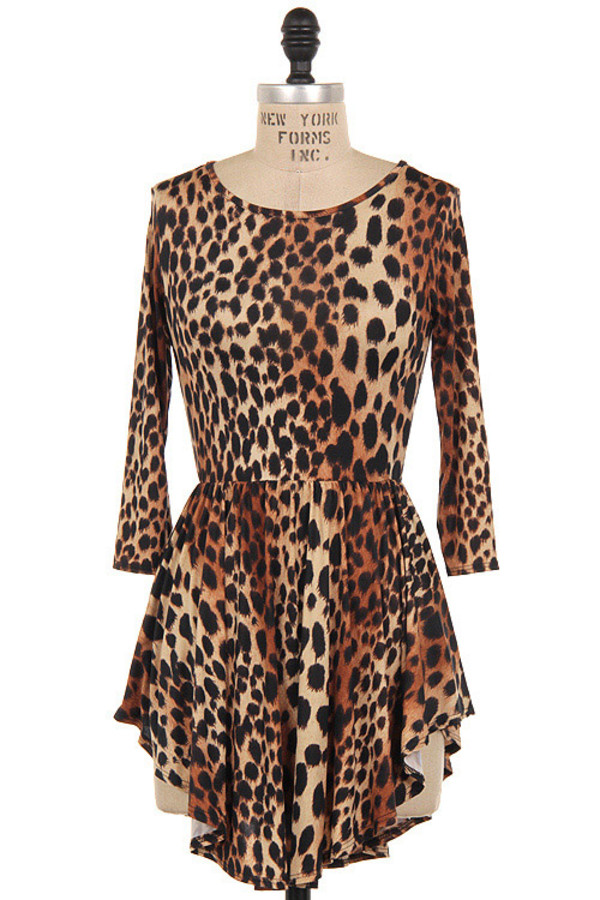dress wild love dresss graphic print animal print mini dress party dress party mini leopard print