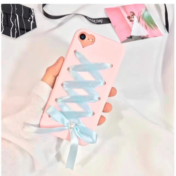 phone cover girly iphone cover iphone pink lace up