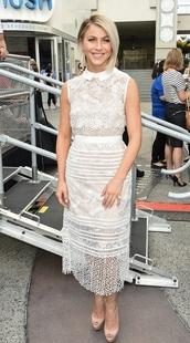 dress,lace dress,prom dress,white dress,julianne hough