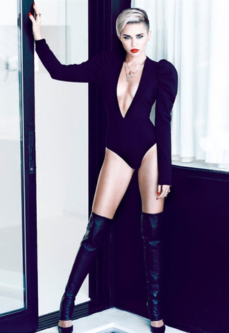 black leotard miley cyrus