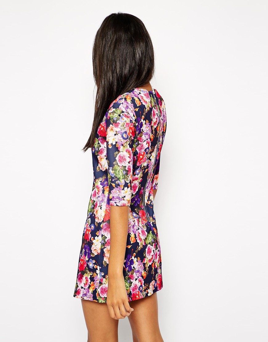 True Decadence Shift Dress in Floral Print at asos.com