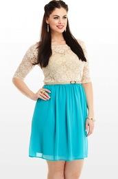 dress,chloe marshall,model,curvy,plus size,blue dress,lace dress,romantic summer dress,romantic dress