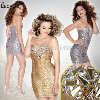 bustier dress party dress bandage dress beading dress