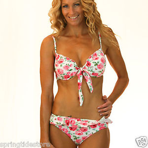 ♥ Vintage Floral Bikini Separates ♥ Sexy Push UP Padded BRA Sizes 8 10 12 14 16 | eBay