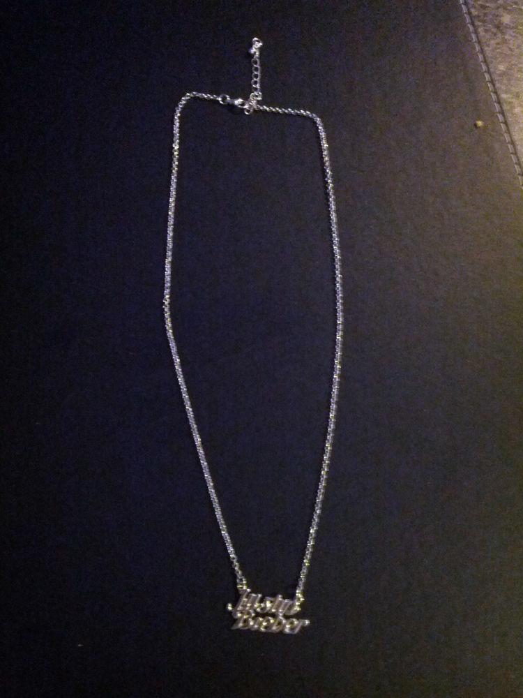 "Justin Bieber ""Name"" Fashion Necklace | eBay"