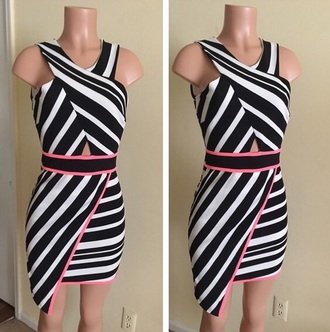 dress asymmetrical dress striped dress