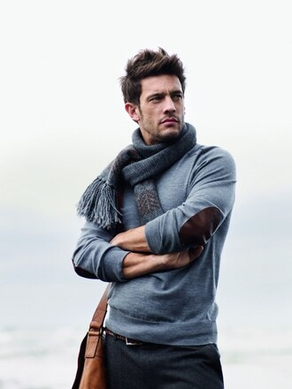 menswear 5 elbow patches scarf