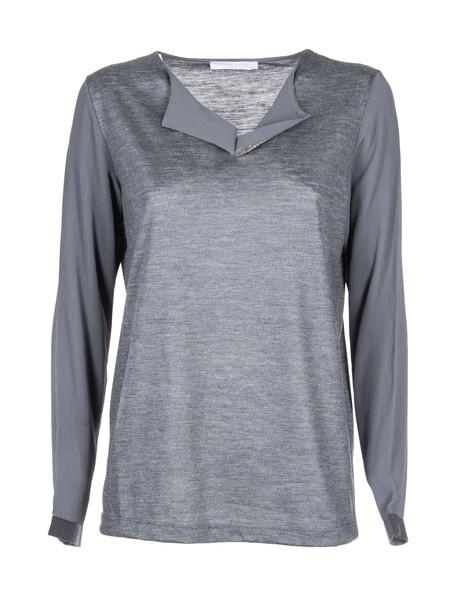 Fabiana Filippi top embellished top embellished grey