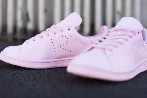 3ef0d16b73f shoes pink pastel adidas raf simons stan smith riffraff light pink adidas  shoes