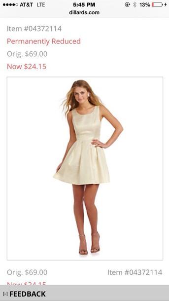dress gold dillard's shimmery dress short dress