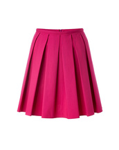skirt,stretch cotton pleated skirt,red valentino,mini skirt,magenta