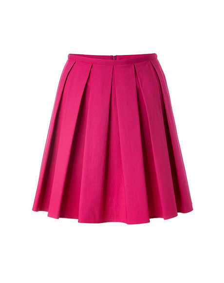 skirt mini skirt stretch cotton pleated skirt red valentino magenta