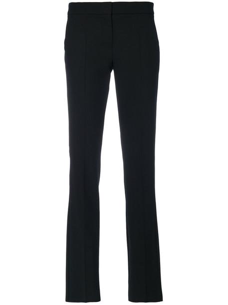 Max Mara women spandex black wool pants