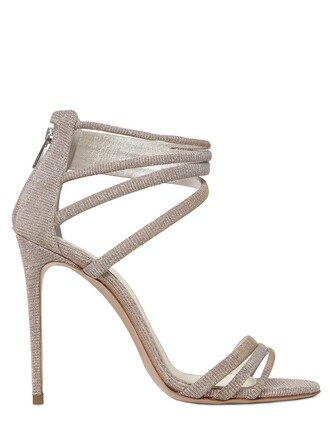 metallic sandals cotton gold silver shoes