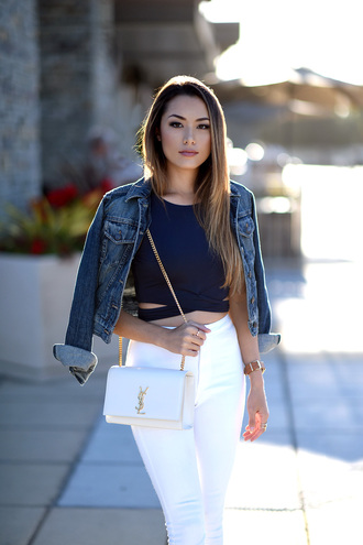 jessica r. hapa time - a california fashion blog by jessica blogger top jacket shoes bag jewels