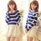 Japanese sweet flower stripe sweater two-piece dress · fashion kawaii [japan & korea] · online store powered by storenvy