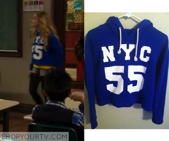 jacket crop tops crop new york city blue blue jacket white writing