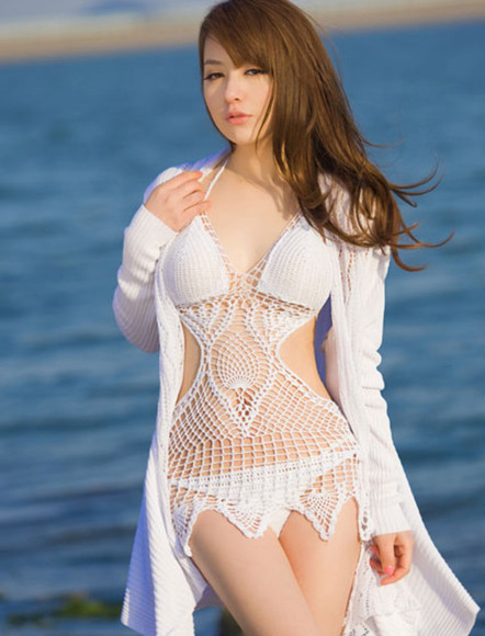 fashion swimwear bikini white swimwear