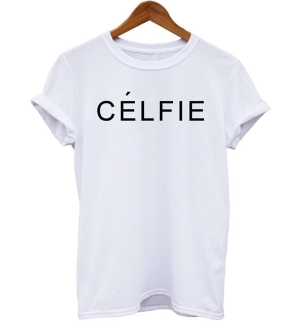 t-shirt celfie celfie tshirt selfie unisex white t-shirt fall outfits graphic tee slogan tee