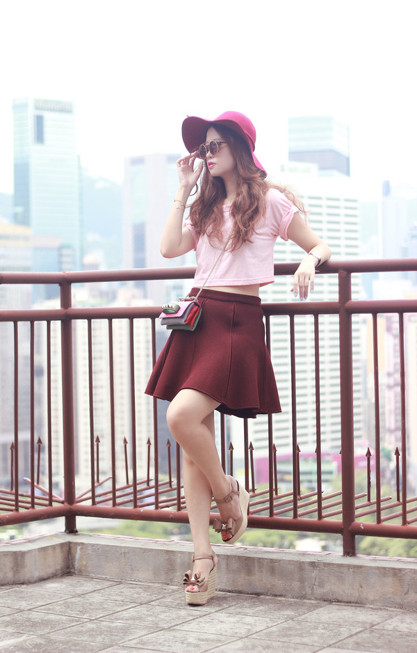 mellow mayo blogger sunglasses top skirt bag shoes