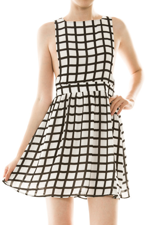 Sexy Checkerboard Dress – Elephant Juice Boutique