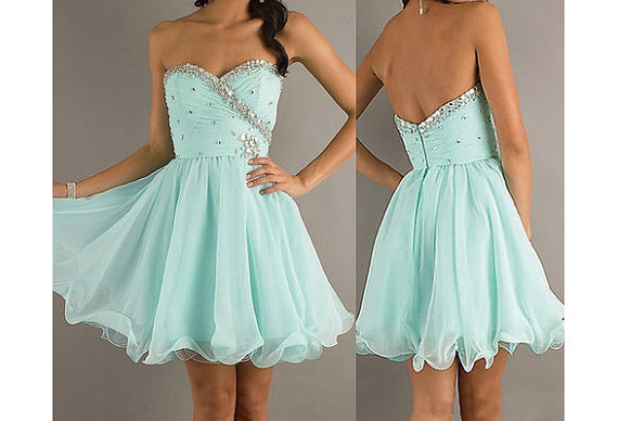 bridesmaid dress mint prom dress baby blue prom by okbridal