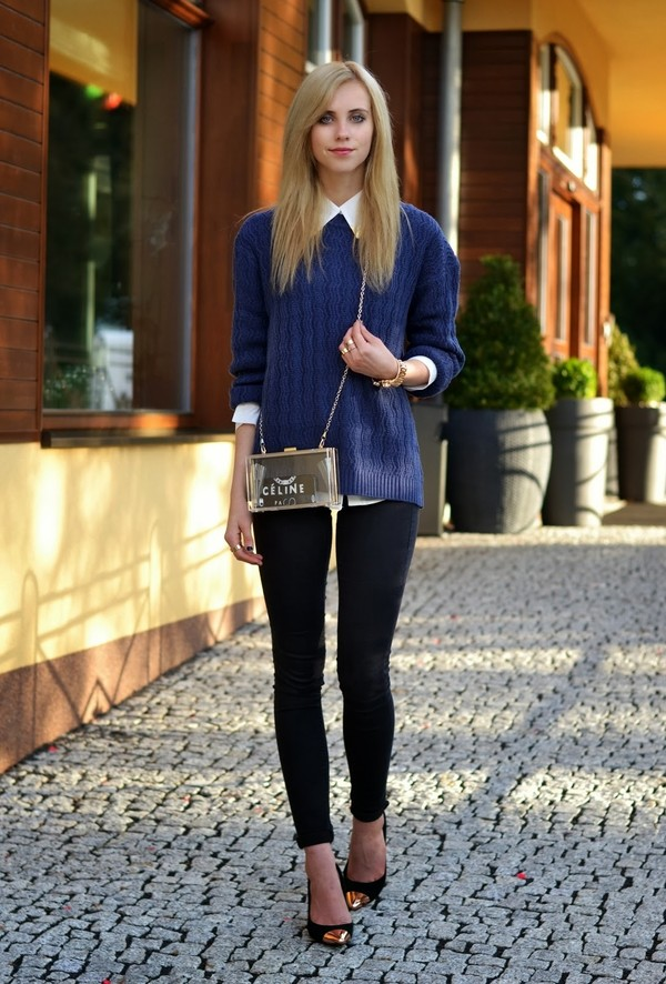 vogue haus sweater blouse jeans shoes bag jewels