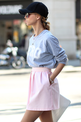 sirma markova sweater skirt hat bag jewels sunglasses