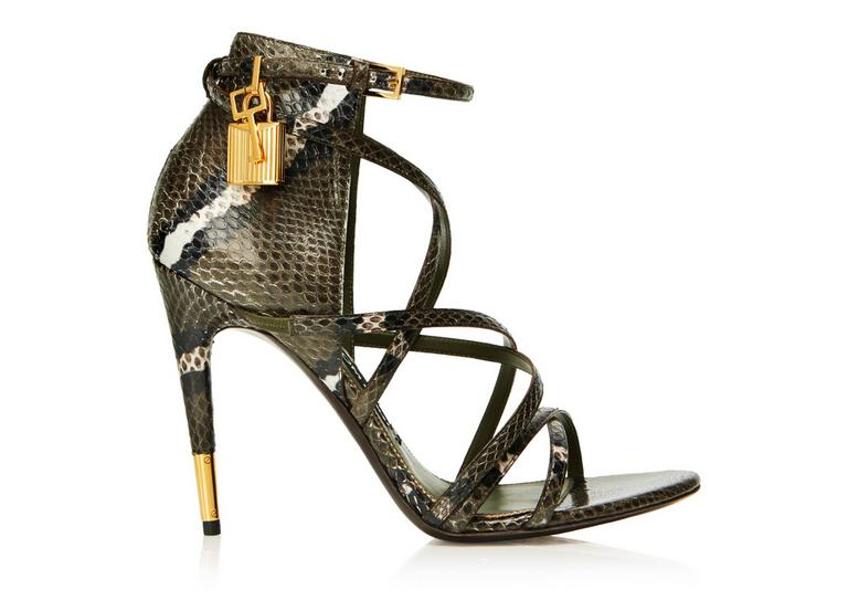 Ayers snake strappy padlock sandal