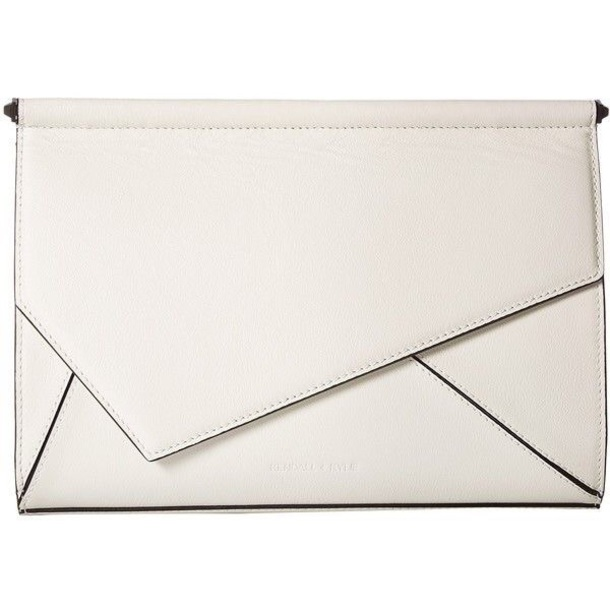 bag purse white clutch kendall + kylie label
