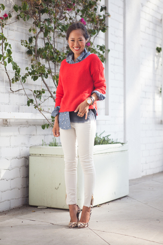 shoes song of style medium heels blouse sweater