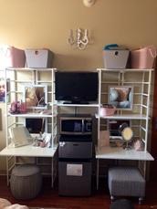 home accessory,college,home decor,dorm room,organizer,white,shelves,furniture,rack