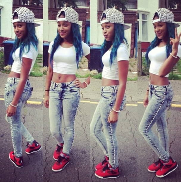 exceptional crop top outfits with jordans 9