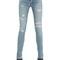 Washed & destroyed cotton denim jeans