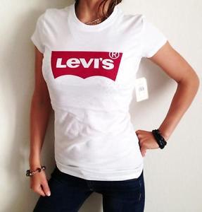 New Levi 39 S Women 39 S Levis T Shirt Tee White Levis Logo Sz S Xl