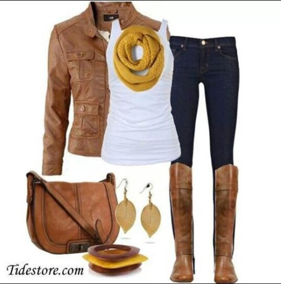 shoes motojacket boots purses scarf tank top accessories skinny jeans