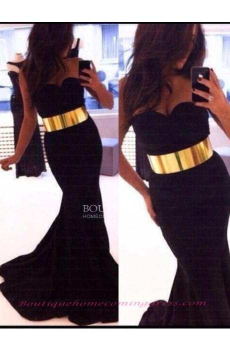 Sweep train mermaid/trumpet 2015 prom dress